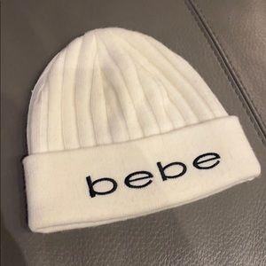 Cream bebe beanie hat